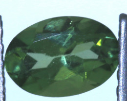 "0.50 carats Green Sapphire ""Natural and Untreated"" ANGC 812"