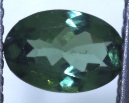 """0.45 carats Green Sapphire """"Natural and Untreated"""" ANGC 814"""