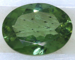 "0.80 carats Green Sapphire ""Natural and Untreated"" ANGC 815"