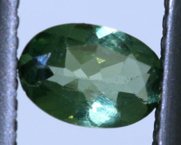 "0.45 carats Green Sapphire ""Natural and Untreated"" ANGC 816"