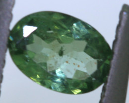 """0.40 carats Green Sapphire """"Natural and Untreated"""" ANGC 817"""