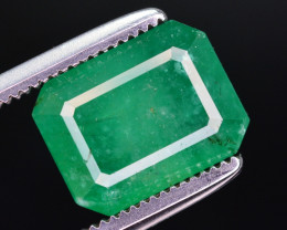 3.45  Ct Natural Zambia Emerald Gemstone