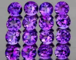 3.00 mm Round 30 pcs 2.95cts Purple Amethyst [VVS]