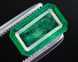 1.55 Ct Natural Zambia Emerald Gemstone