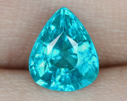 1.29 Cts UN HEATED NEON BLUE COLOR   NATURAL   APATITELOOSE GEMSTONE