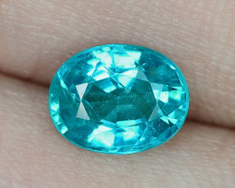 1.32 Cts UN HEATED NEON BLUE COLOR   NATURAL   APATITE LOOSE GEMSTONE