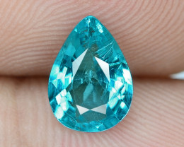 1.03 Cts UN HEATED NEON BLUE COLOR   NATURAL   APATITE LOOSE GEMSTONE