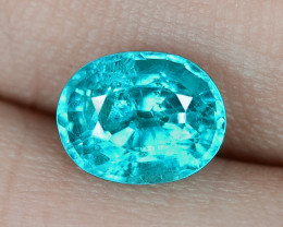1.51 Cts UN HEATED NEON BLUE COLOR   NATURAL   APATITELOOSE GEMSTONE