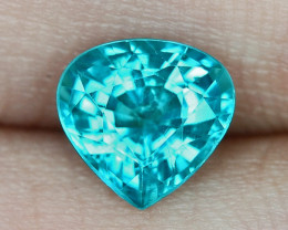 1.48 Cts UN HEATED NEON BLUE COLOR   NATURAL   APATITELOOSE GEMSTONE