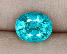 1.26 Cts UN HEATED NEON BLUE COLOR   NATURAL   APATITELOOSE GEMSTONE