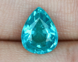 1.49 Cts UN HEATED NEON BLUE COLOR   NATURAL   APATITELOOSE GEMSTONE