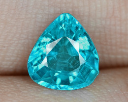 1.23 Cts UN HEATED NEON BLUE COLOR   NATURAL   APATITELOOSE GEMSTONE