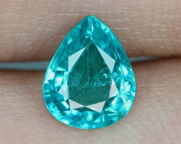 1.33 Cts UN HEATED NEON BLUE COLOR   NATURAL   APATITELOOSE GEMSTONE