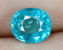1.28 Cts UN HEATED NEON BLUE COLOR   NATURAL   APATITE LOOSE GEMSTONE