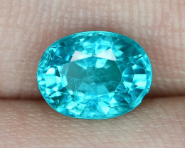 1.97 Cts UN HEATED NEON BLUE COLOR   NATURAL   APATITELOOSE GEMSTONE