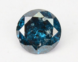 Natural Electric Blue Diamond Round Cut Africa 0.08 Cts