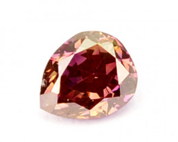 Natural Pink Diamond Pear Cut Africa 0.11 Cts