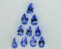 2.04Ct Natural Purple Blue Tanzanite Pear 5 X 3mm Parcel