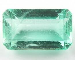 NR 2.16 ct Natural Colombian Emerald Cut Green Gem Loose Gemstone Stone