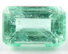 NR 1.70 ct Natural Colombian Emerald Cut Green Gem Loose Gemstone Stone