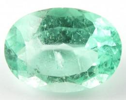 NR 1.13 ct Natural Colombian Emerald Cut Green Gem Loose Gemstone Stone