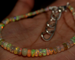 26 Crt Natural Ethiopian Welo Opal Beads Bracelet 79