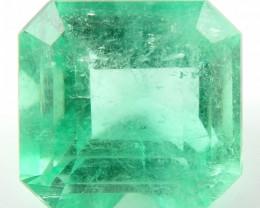 NR Certified 4.33 ct Natural Colombian Muzo Emerald Cut Green Loose Gem