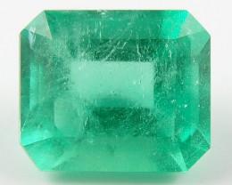 1.42 ct Natural Colombian Emerald Cut Green Gem Loose Gemstone Stone