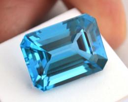 27.98 Carat Fantastic Octagon Cut Swiss Blue Topaz