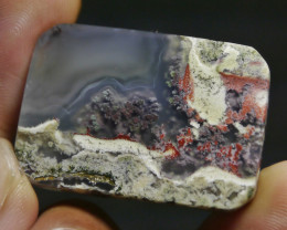 61.45 CT UNTREATED Beautiful Indonesian Moss Agate Picture