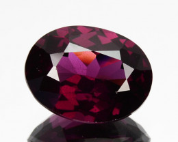 ~BEAUTIFUL~ 2.83 Cts Natural Grape Garnet Oval Cut Mozambique