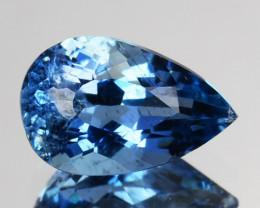 Santa Maria Blue 0.64 Cts Natural Aquamarine Pear Brazil Beautiful Color