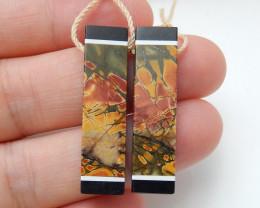 Sale Obsidian ,Multi Color Jasper,Howlite Intarsia Earrings ,Wholesale C99