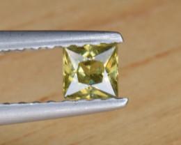 Natural Demantoid Garnet 0.21 Cts, Full Sparkle Faceted Gemstone