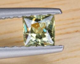 Natural Demantoid Garnet 0.26 Cts, Full Sparkle Faceted Gemstone