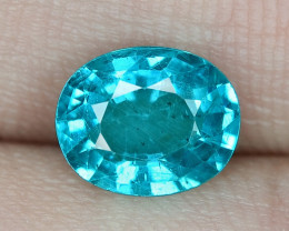 1.18 Cts UN HEATED NEON BLUE COLOR   NATURAL   APATITE LOOSE GEMSTONE