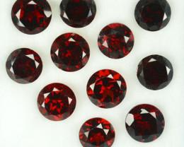 12.90Ct Natural Almandite Red Garnet Round 6mm Parcel