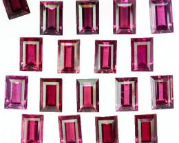 17.25Ct Natural Purple Pink Rhodolite Garnet Baguette 6 X 4mm Parcel