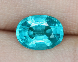1.46 Cts UN HEATED NEON BLUE COLOR   NATURAL   APATITELOOSE GEMSTONE