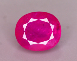 AAA Color 2.90 Ct Natural Ruby From Tajikistan