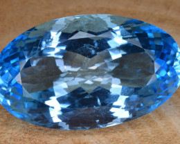 Natural Blue Topaz 39.18 Cts Top Clean Gemstone