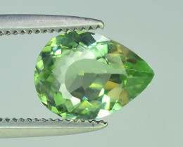 Amazing Color 1.05 ct Natural Light Green Color Tourmaline.
