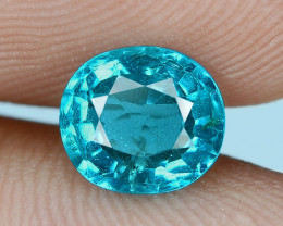 1.22 Cts UN HEATED NEON BLUE COLOR   NATURAL   APATITELOOSE GEMSTONE
