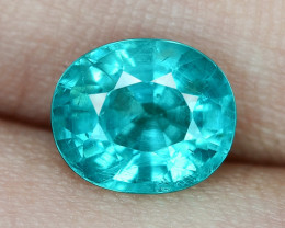 1.89 Cts UN HEATED NEON BLUE COLOR   NATURAL   APATITELOOSE GEMSTONE