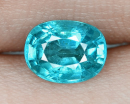1.32 Cts UN HEATED NEON BLUE COLOR   NATURAL   APATITELOOSE GEMSTONE