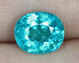 1.77 Cts UN HEATED NEON BLUE COLOR   NATURAL   APATITELOOSE GEMSTONE