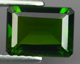 1.67 CTS ATTRACTIVE ULTRA RARE NATURAL CHROME DIOPSIDE OCTAGON RUSSIA!!