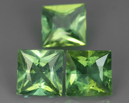4.45 CTS INVESTMENT GEM~VIP APATITE~SQARE PRINCESS~CUT GREEN EXCLUSIVE !!