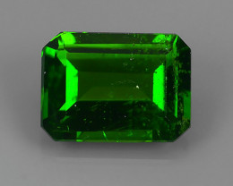 1.55  CTS MARVELOUS RARE NATURAL TOP GREEN- CHROME DIOPSIDE DAZZLING  NR!!
