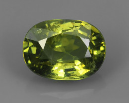 1.55 Cts Gorgeous Vivid Greenish Yellow Hue Natural Demantoid Garnet!!